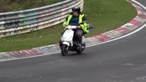 video big guy scooter nurburgring