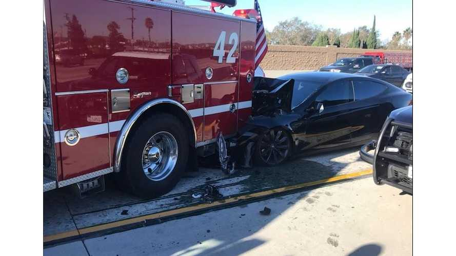 UPDATE 2 - Tesla Model S Rear Ends Stopped Fire Truck - Drive Log Released