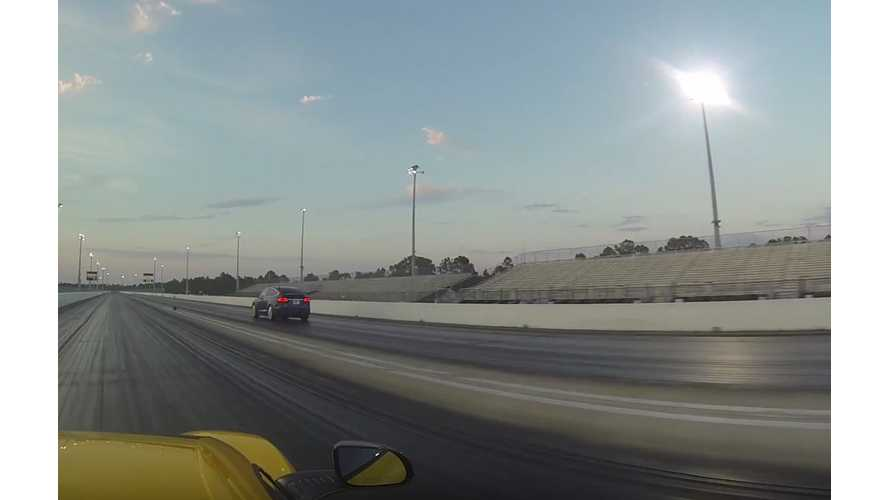Tesla Model X P90D Ludicrous vs McLaren 650S - DragTimes Race Video