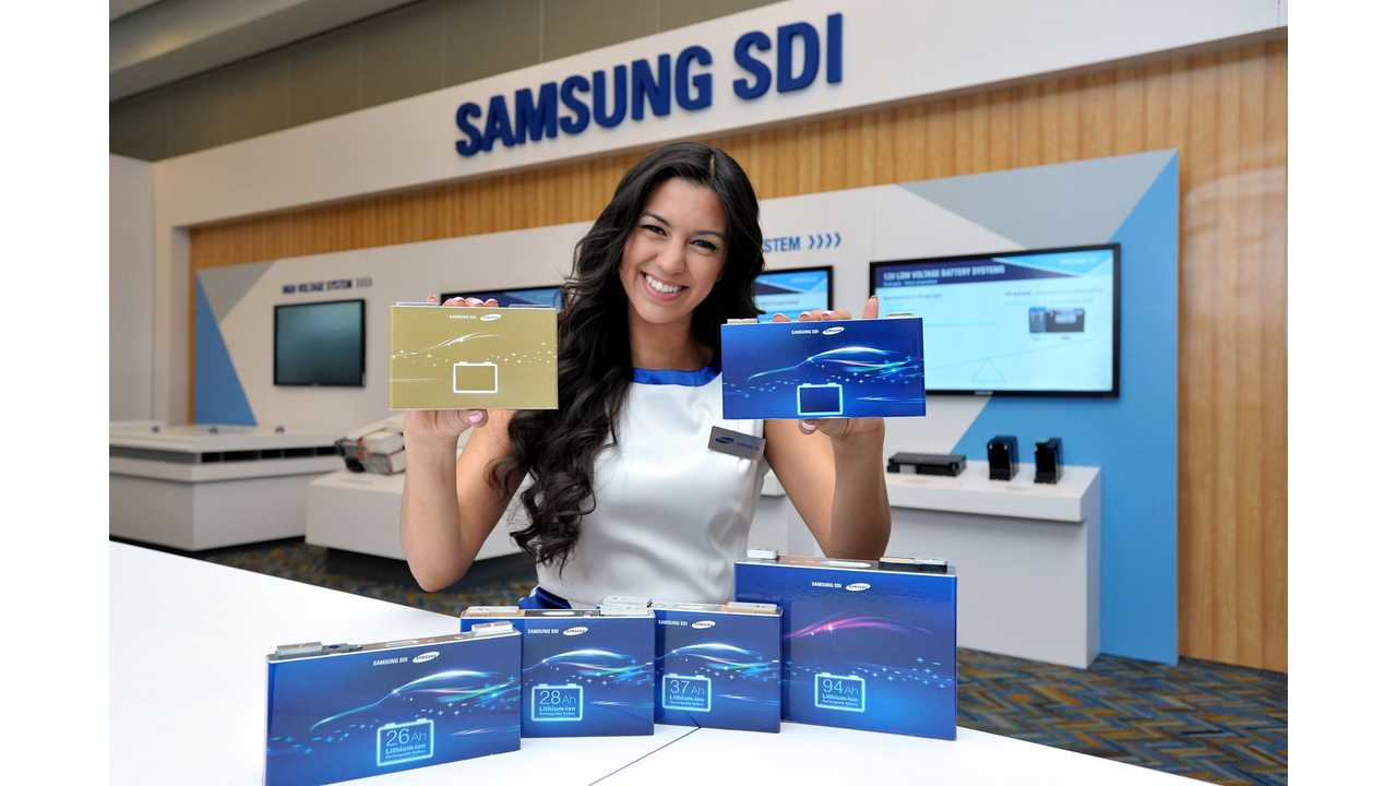 Samsung SDI Presents Batteries That Enable 370 Miles (600 km) Of Range At 2016 NAIAS