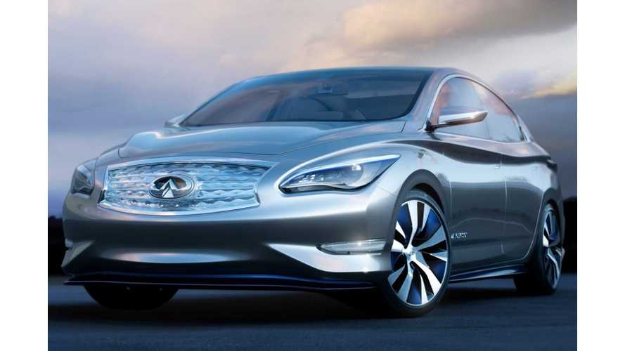 Infiniti Boss Says It Will Borrow Nissan EV Tech For EV Coming In...2020