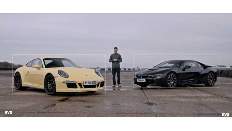 BMW i8 Versus Porsche 911 - Track Video