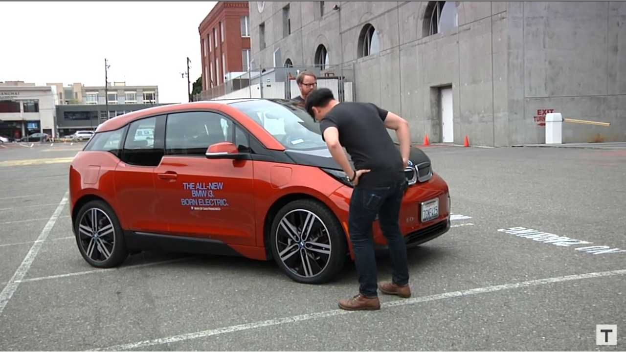 Tested Hosts Will Smith and Norman Chan Kick The Tires On A BMW i3 REx