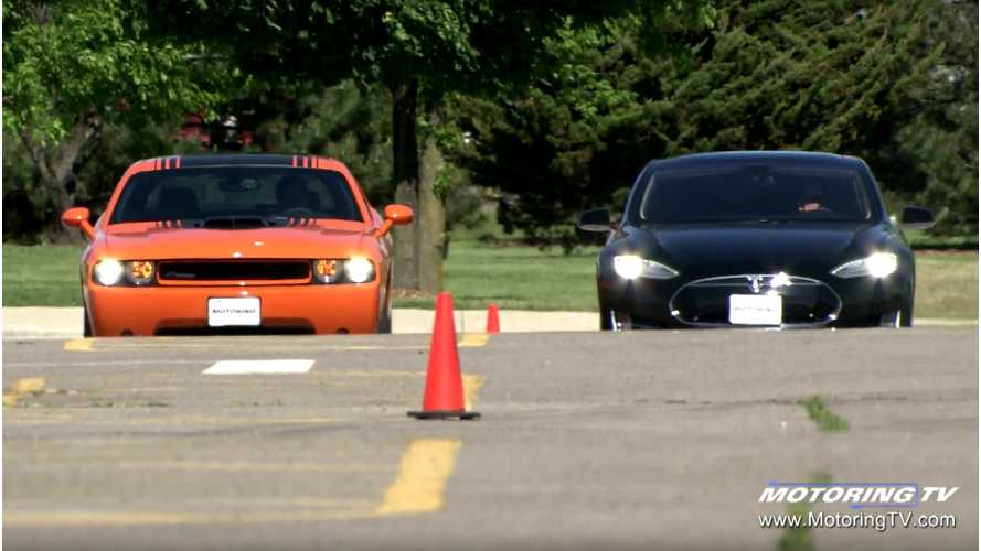 Motoring TV Pits Tesla Model S Against Dodge Challenger