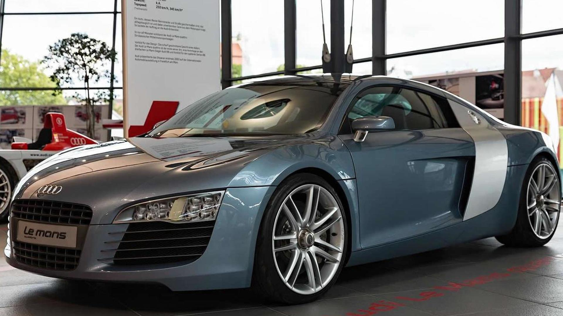 2003 Audi Le Mans Quattro Concept Displayed Together With 2017 R8 V10 Plus