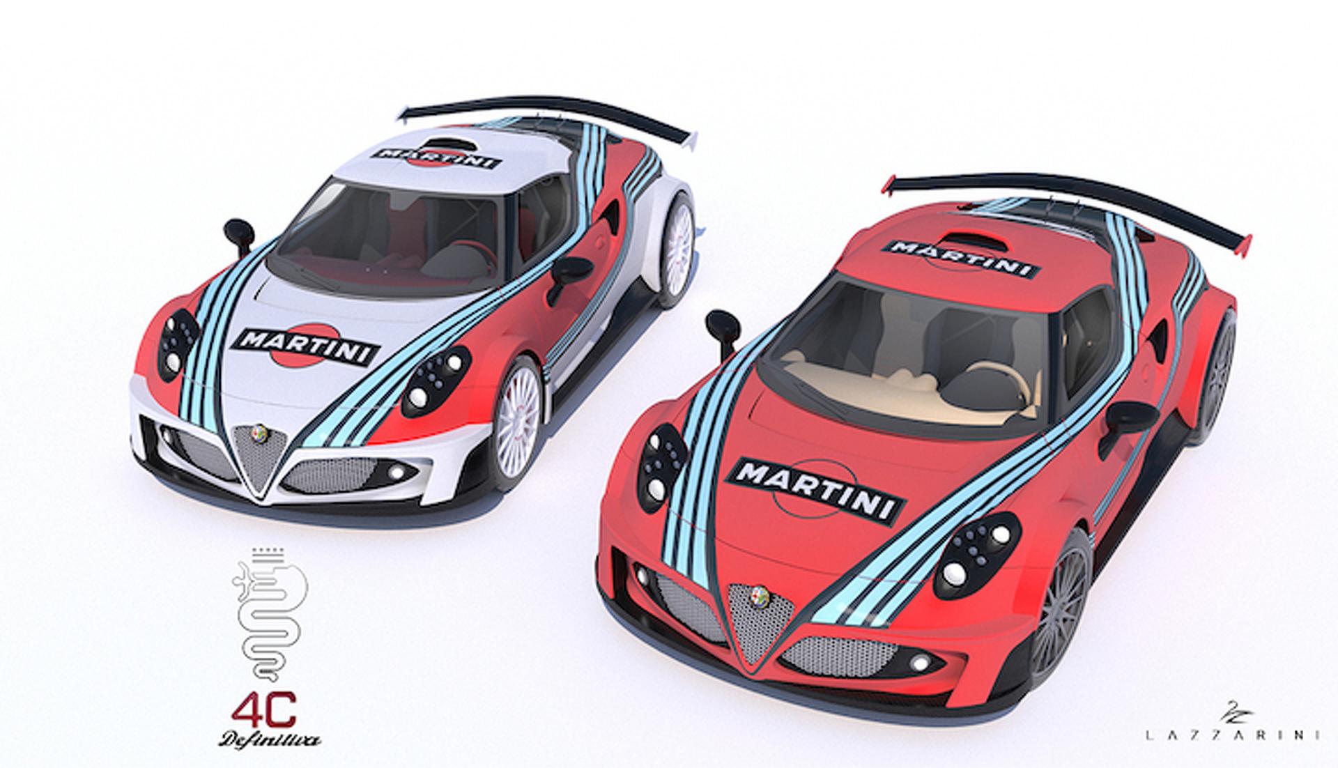 V8 Martini Liveried Alfa Romeo 4c Makes Other Cars Irrelevant Motor1 Com Photos