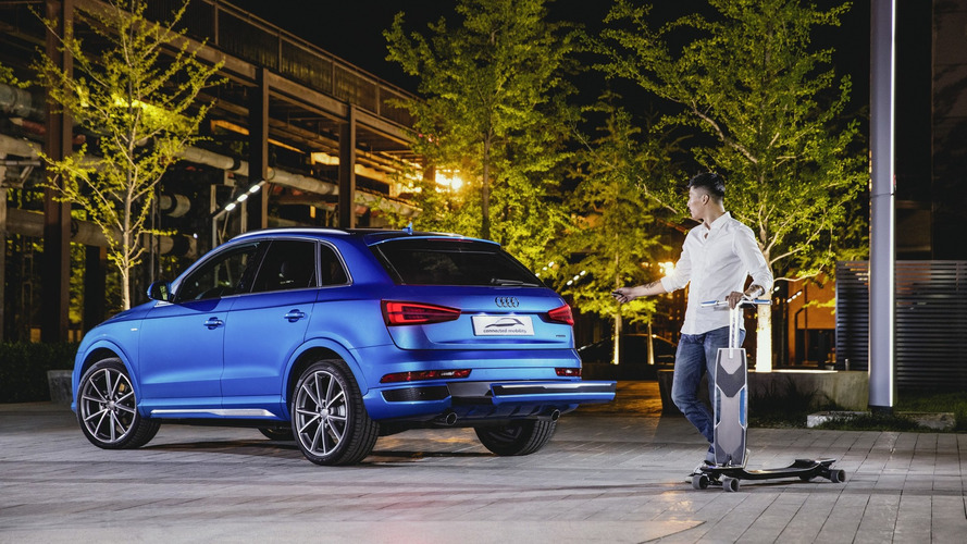 Audi connected mobility concept bundles electric longboard for Beijing