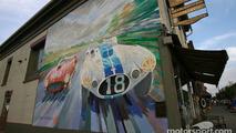 A painted wall in Watkins Glen