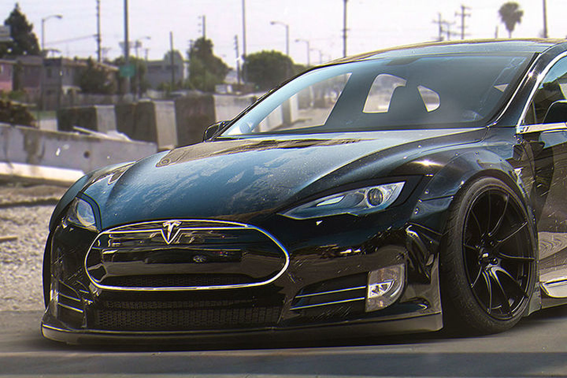 This Custom Tesla Model S Liberty Walk Needs To Happen