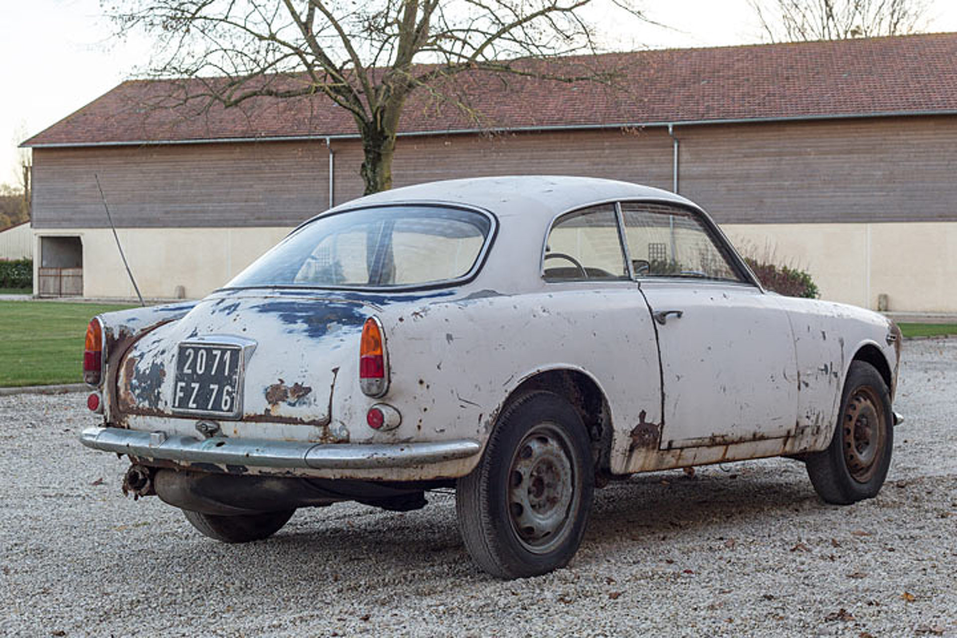 This '63 Alfa Romeo Barn Find is For Sale, Rust Included