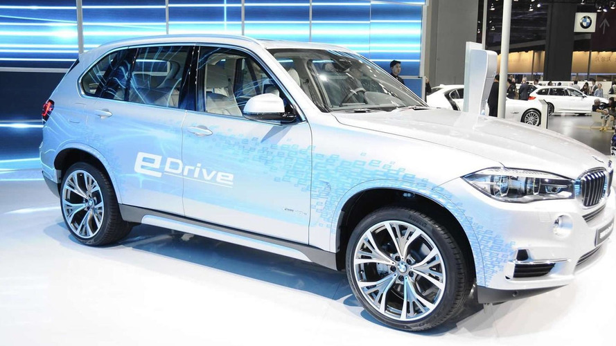BMW X5 xDrive40e is a plug-in hybrid SAV in Shanghai