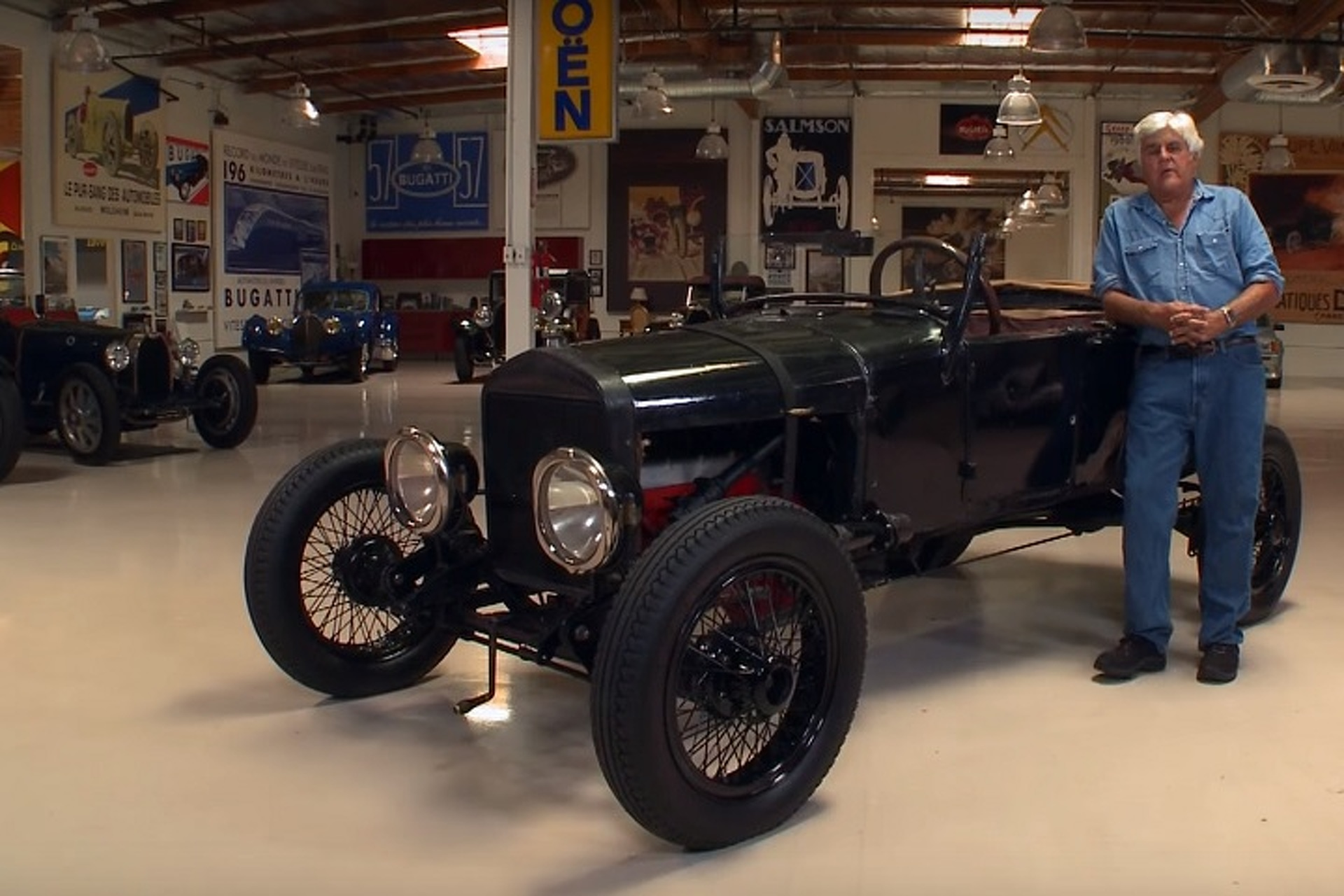 Jay Leno Gets A History Lesson In A 1927 Ford Model T Hot Rod Motor1 Com Photos
