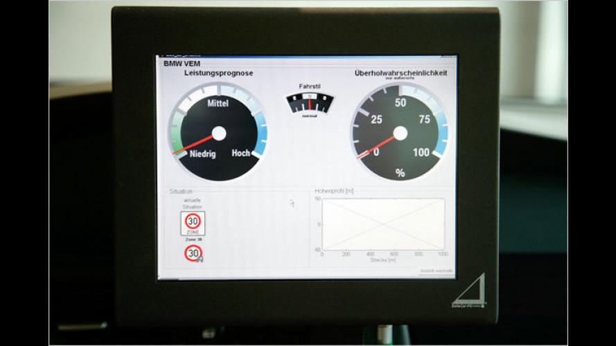 Autos mit Weitblick: BMW spart vorausschauend Energie