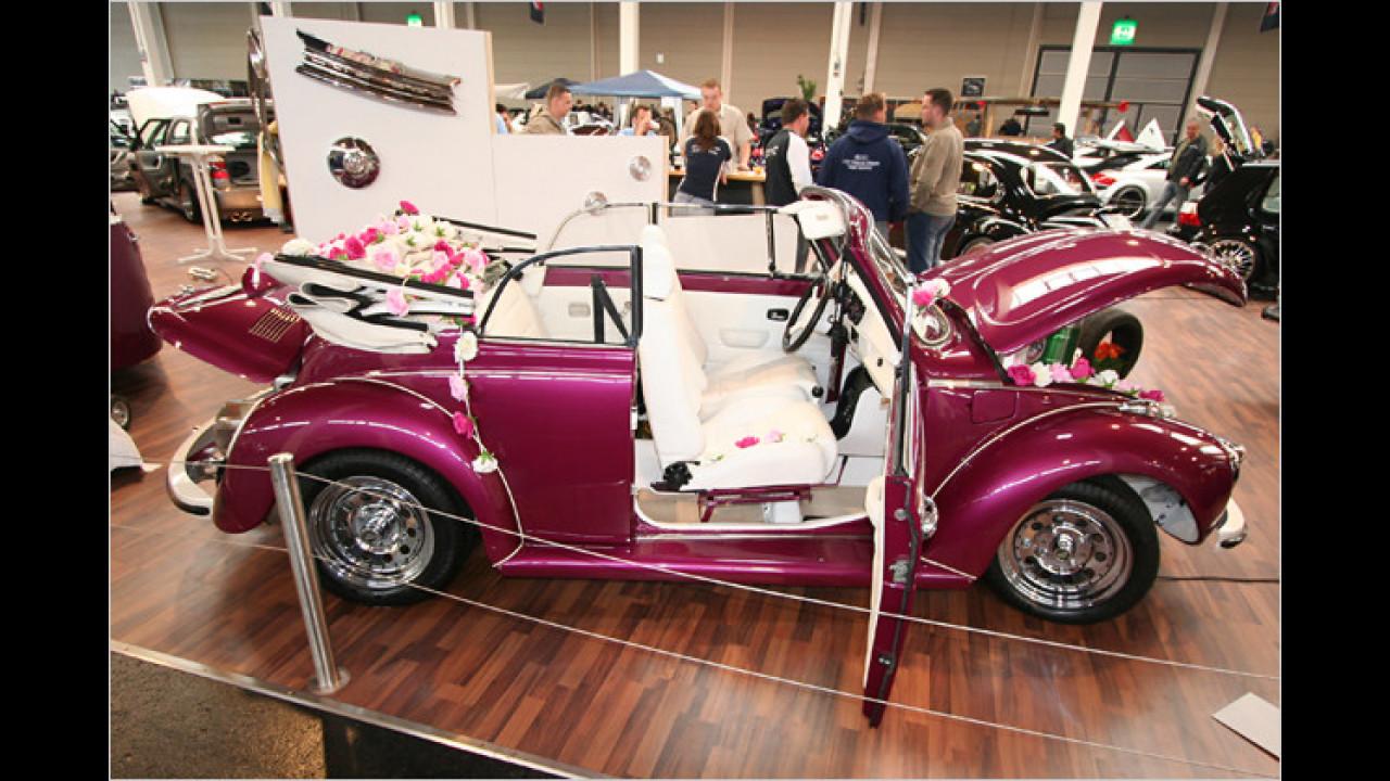 VW Käfer mit Käfer-Anhänger