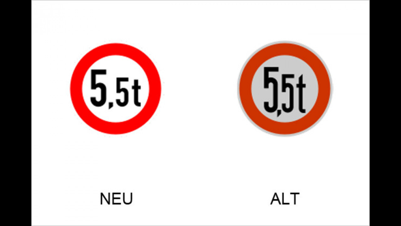Verbot für Fahrzeuge über angegebenes tatsächliches Gewicht