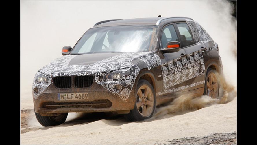 BMW X1 xDrive23d: Wir sind mit leichter Tarnung unterwegs