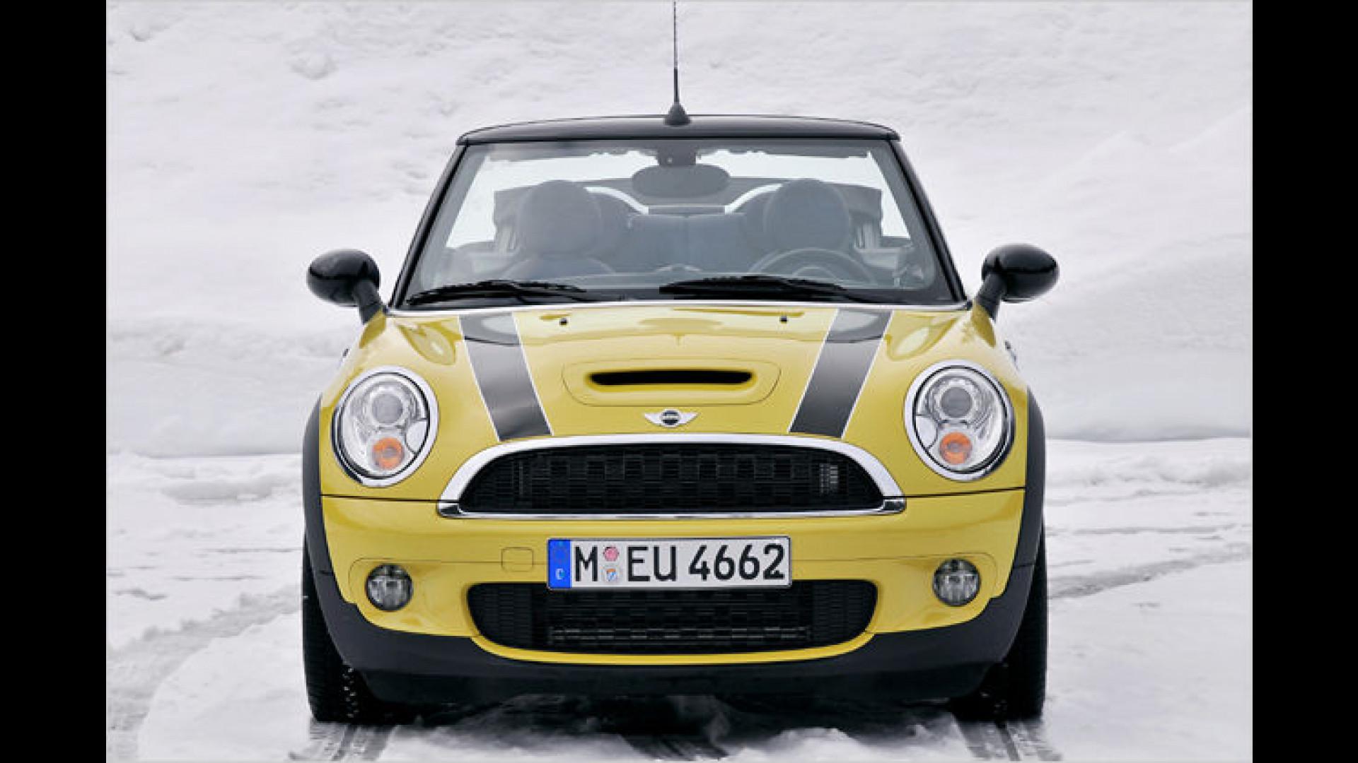 Der Mini Ein Wintermärchen Das Neue Cabrio Im Schnee
