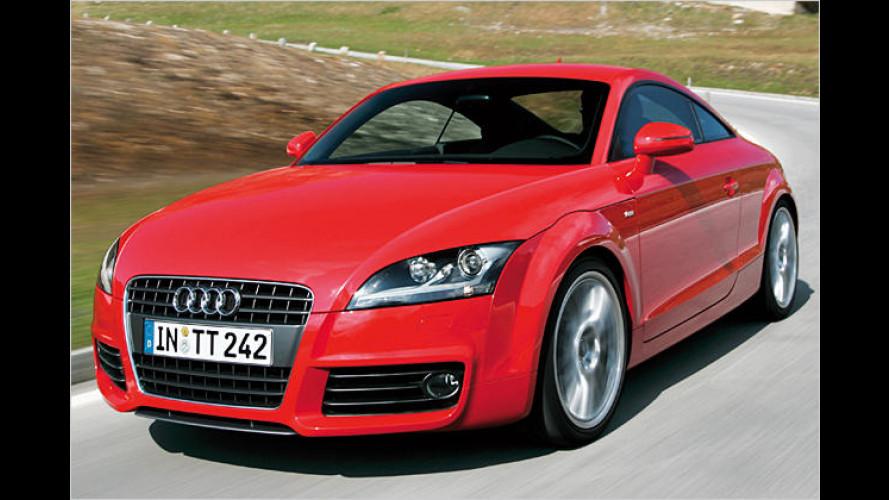 Neue Ausstattungen für Audi TT Coupé: S kommt sportlicher