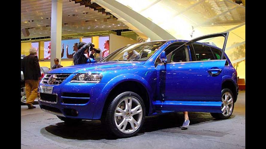 VW Touareg W12 Sport in Paris: Volle Kraft voraus