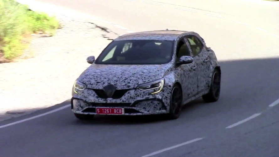2018 Renault Megane RS prototype loaded into trucks