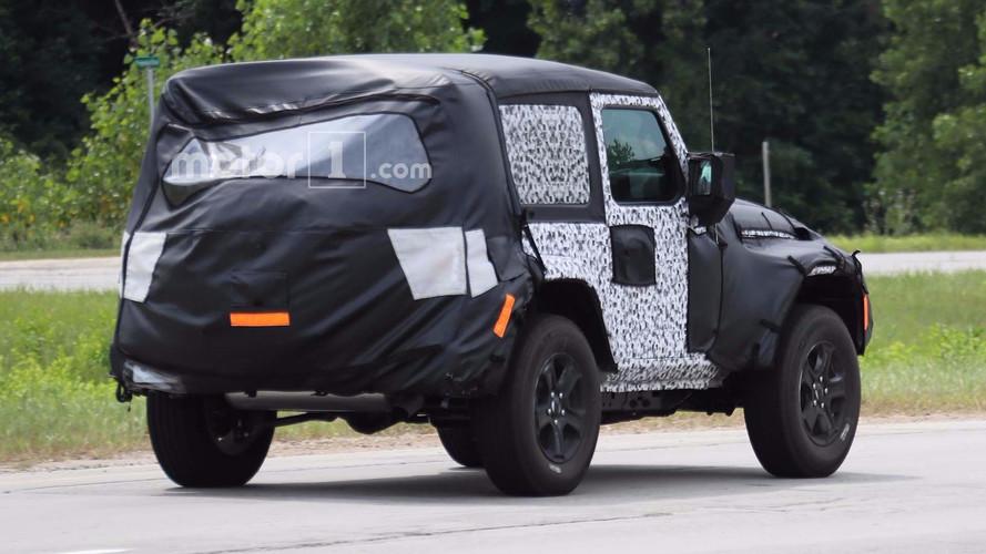 ... 2018 Jeep Wrangler Two Door Spy Photo