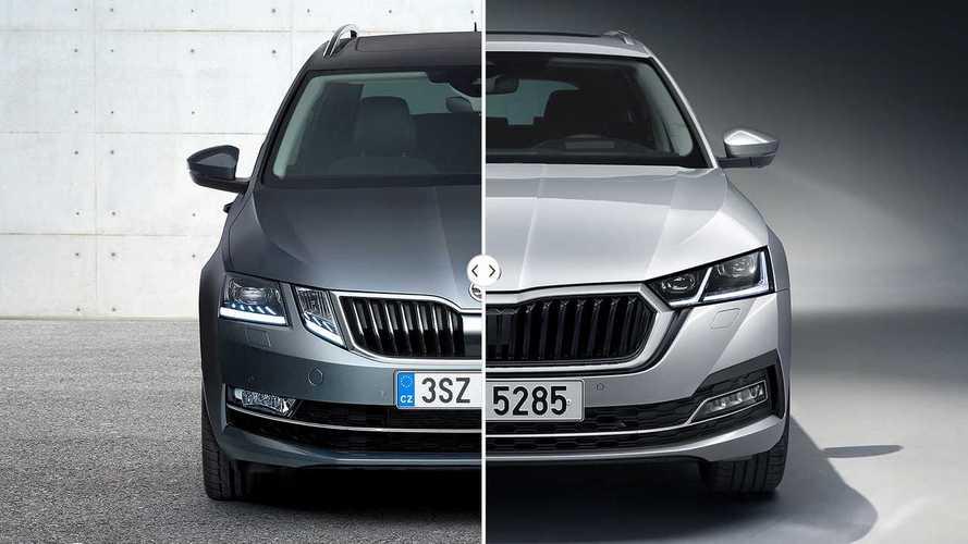 Skoda Octavia 2020 vs. 2017: comparativa estética
