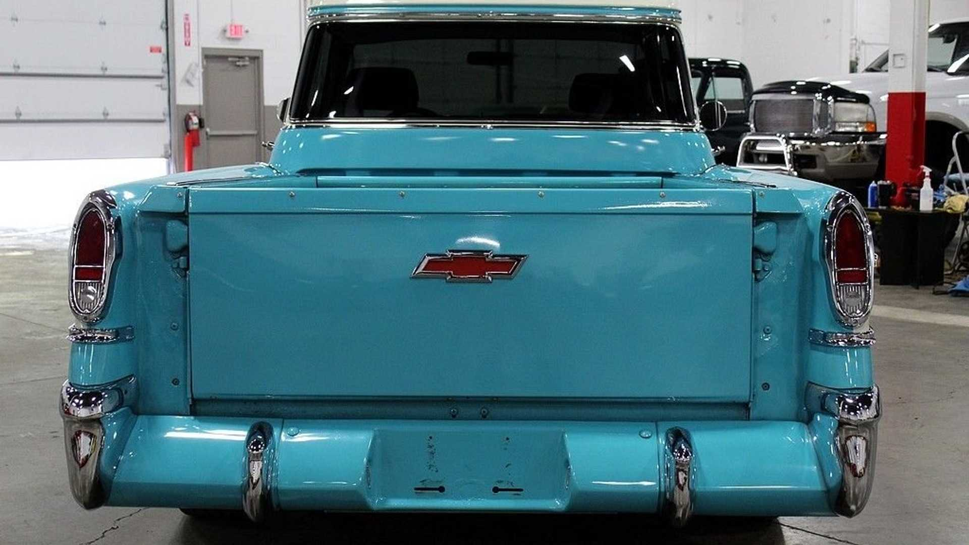 Drive Off In A Beautiful Turquoise 1958 Chevy Cameo Pickup