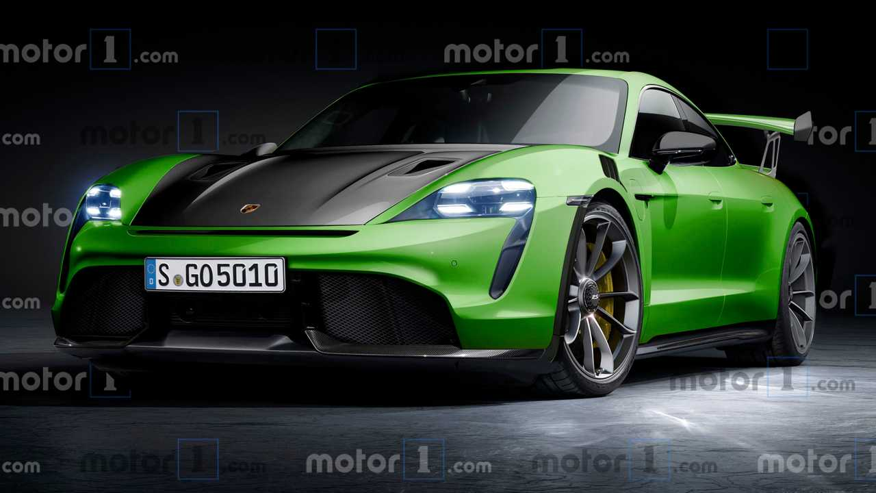 porsche taycan gt2 rendered to