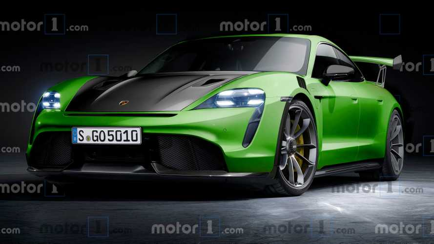 Porsche Taycan GT2 rendering redefines the term 'green performance'