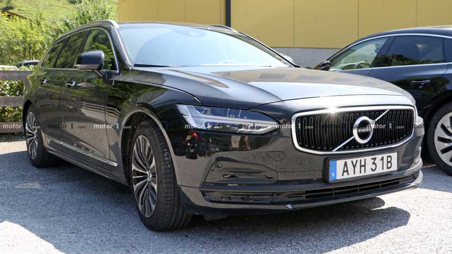 volvo v90 facelift makes surprising spy photo debut