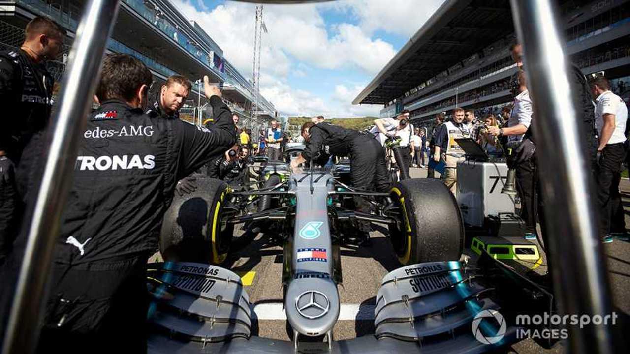 Valtteri Bottas on the grid at Russian GP 2019