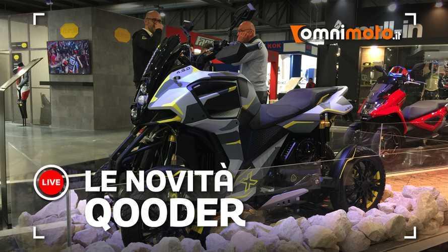 Qooder presenta xQooder, QVe e Nuvion ad Eicma 2019