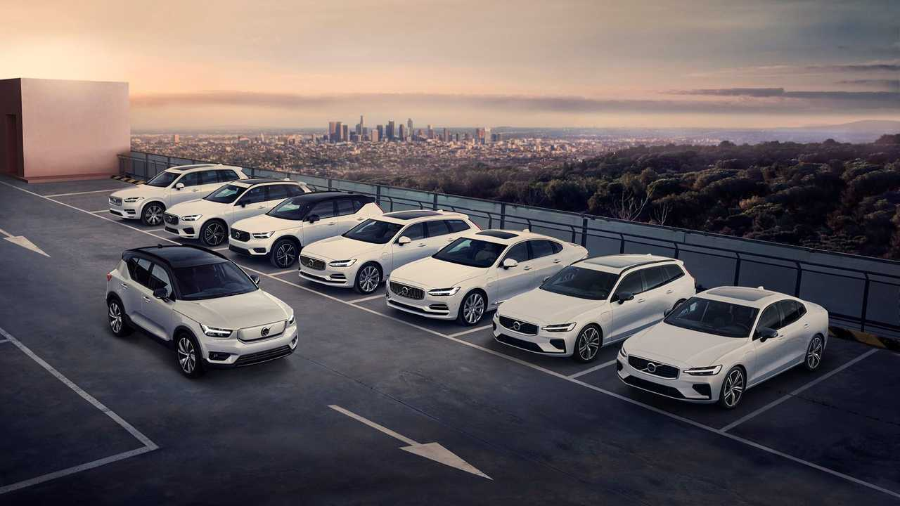 Volvo XC40 Recharge in Volvo plug-in lineup
