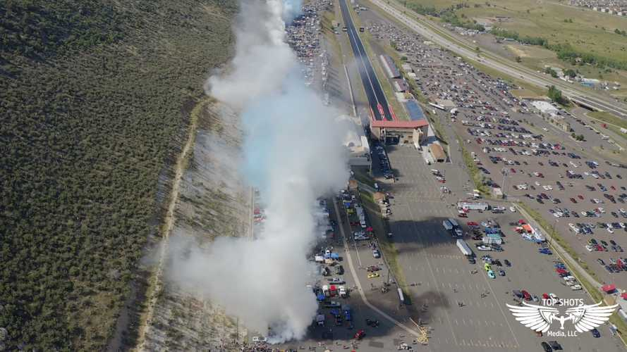 170-Car Burnout Fills Denver With Tire Smoke, Could Be World Record