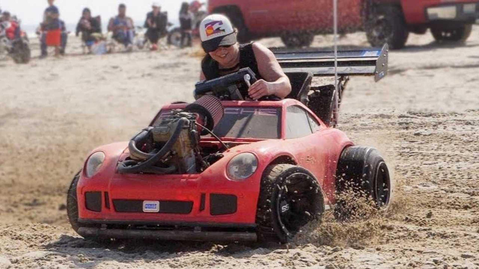 Custom Porsche Power Wheels gets motorcycle engine in amazing build