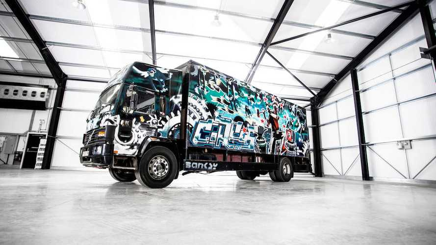 Banksy Street Art Volvo Truck Could Auction For $2M