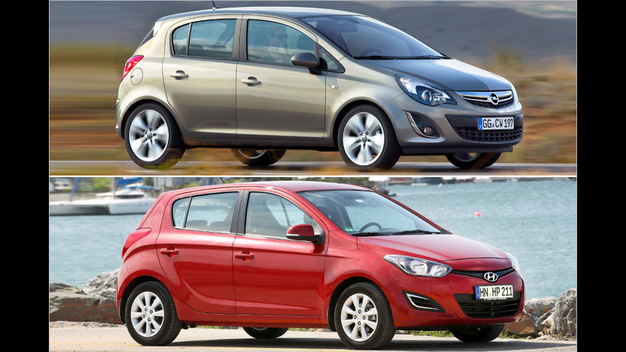 Opel Corsa und Hyundai i20