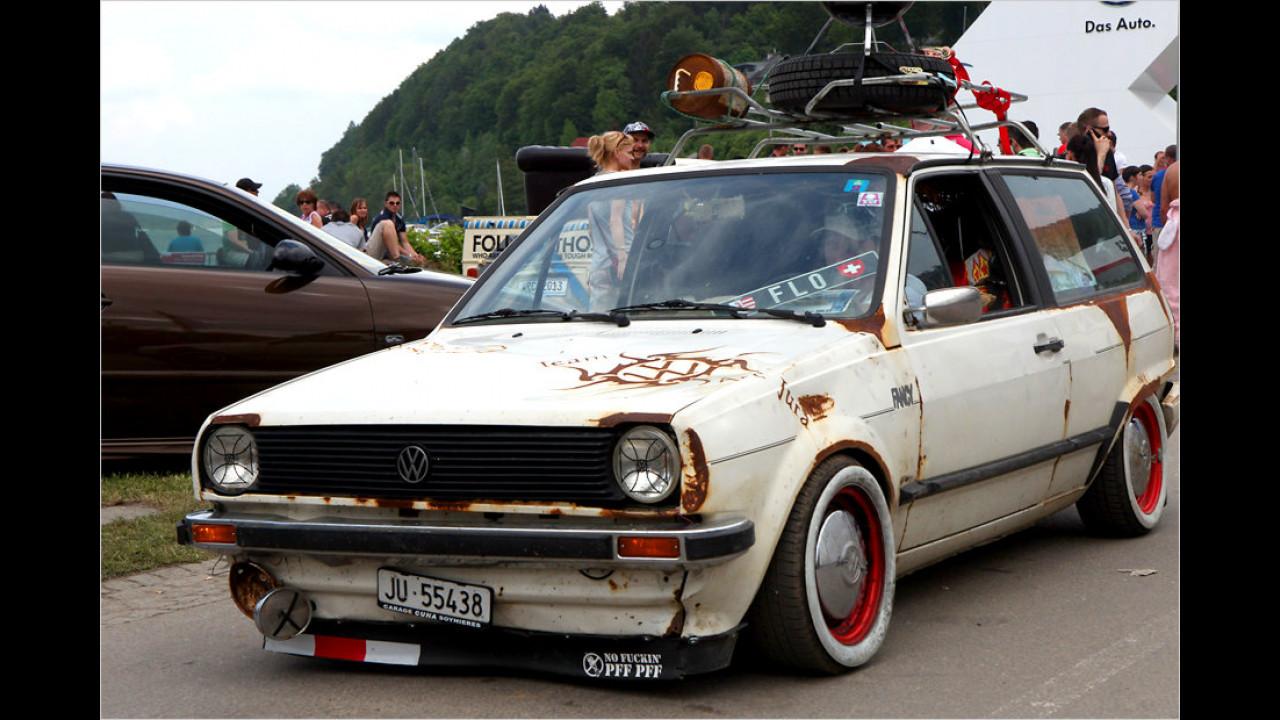 Eine so genannte Ratte ist ein auf rostig und alt getrimmtes Auto. Bei diesem Trend scheiden sich allerdings die Geister der Tuning-Fans.