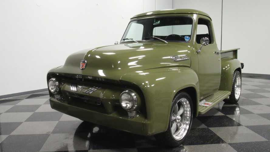 1954 Ford F-100 In Olive Drab Will Steal Your Gaze