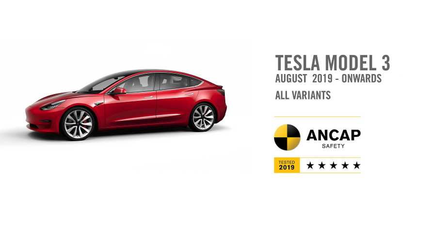 Tesla Model 3 Gets 5-Star Rating From ANCAP