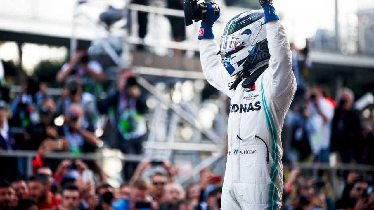 SLIDE SHOW   Race winner Valtteri Bottas, Mercedes AMG F1