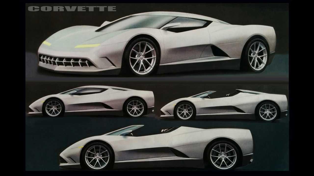 Early C8 Corvette Concept Sketch