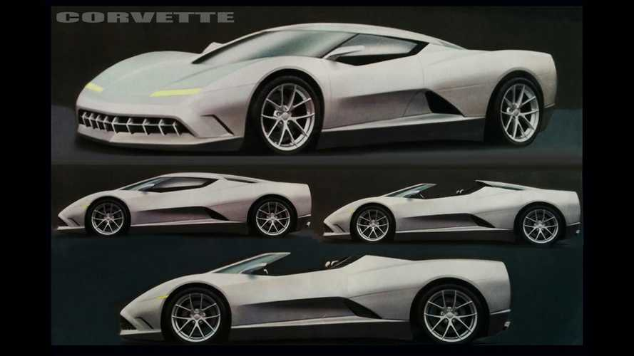 This Early Mid-Engine Corvette Design Sketch Looks Better Than C8