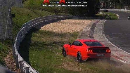 VIDÉO - Une Ford Mustang Shelby GT350 loupe un virage au Nürburgring