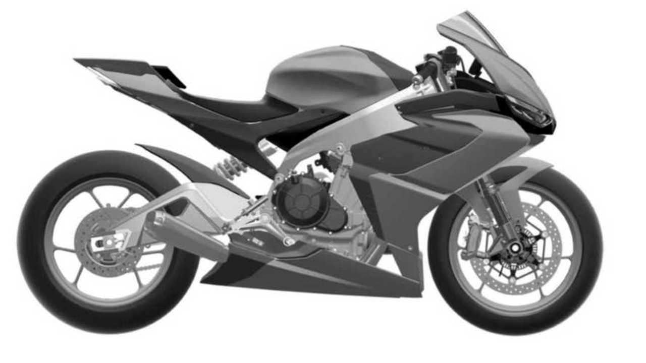 Aprilia RS660 CAD design right side
