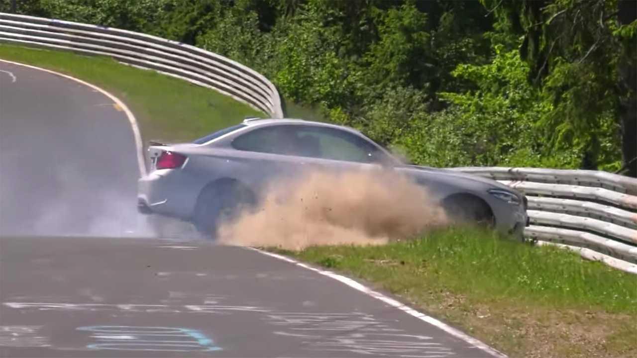 BMW M2 Competition Nurburgring Crash