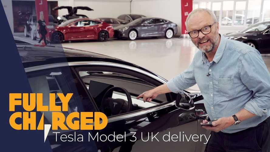 Fully Charged Visits Tesla Delivery Building In London: Video