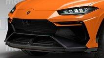 Lamborghini Urus Performante 2021, render de Motor1.com