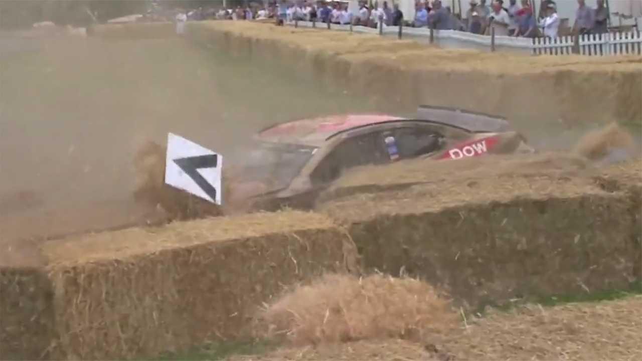 Camaro NASCAR Goodwood Hillclimb Crash