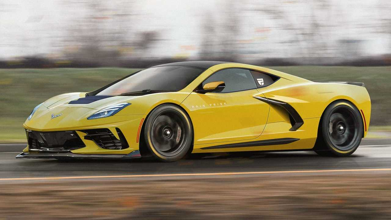 Chevrolet Corvette C8 Rendering With C7 Inspiration
